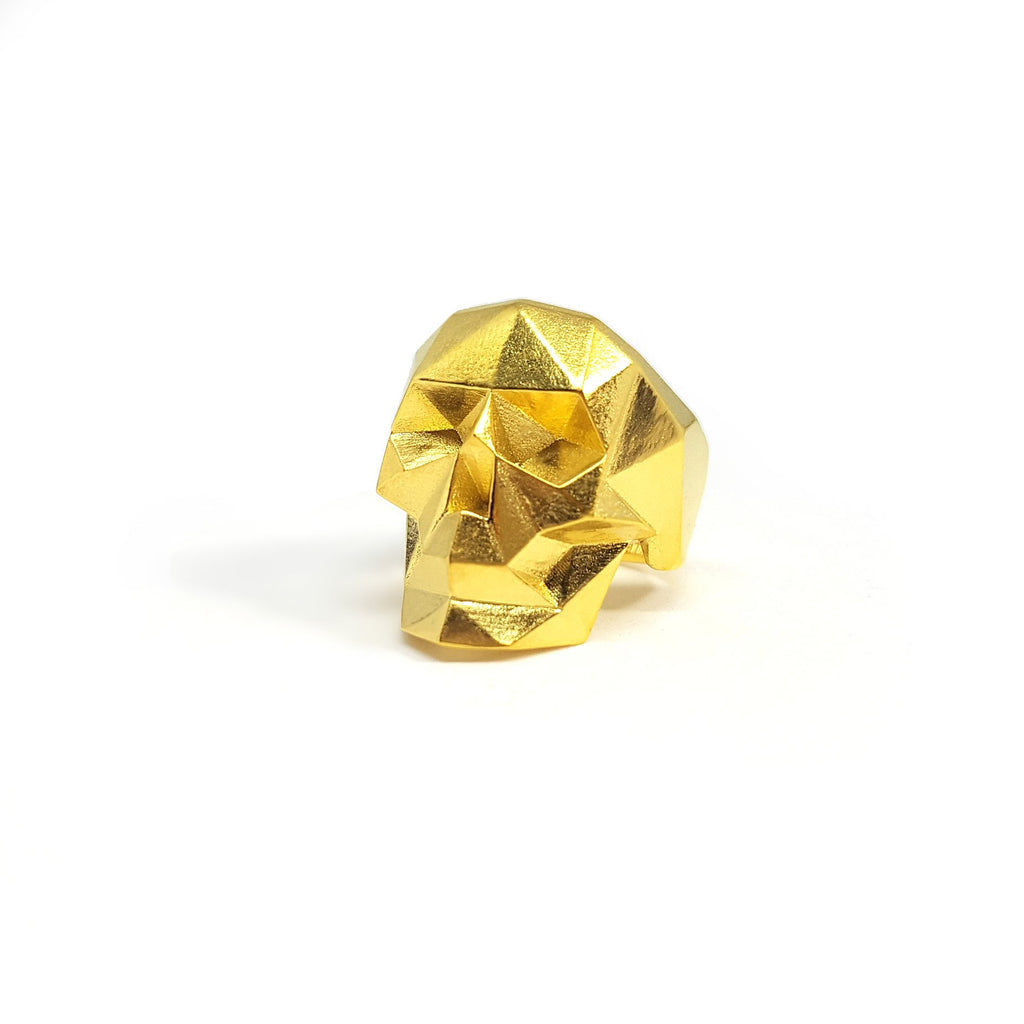 Golden skull ring (S, M)