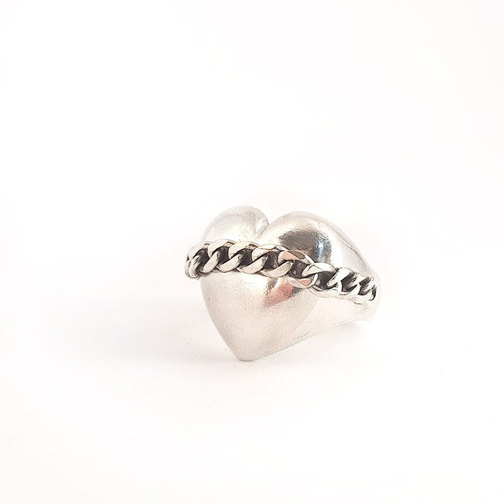 Chained Heart Ring