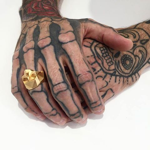 Gold skull ring (L, XL)