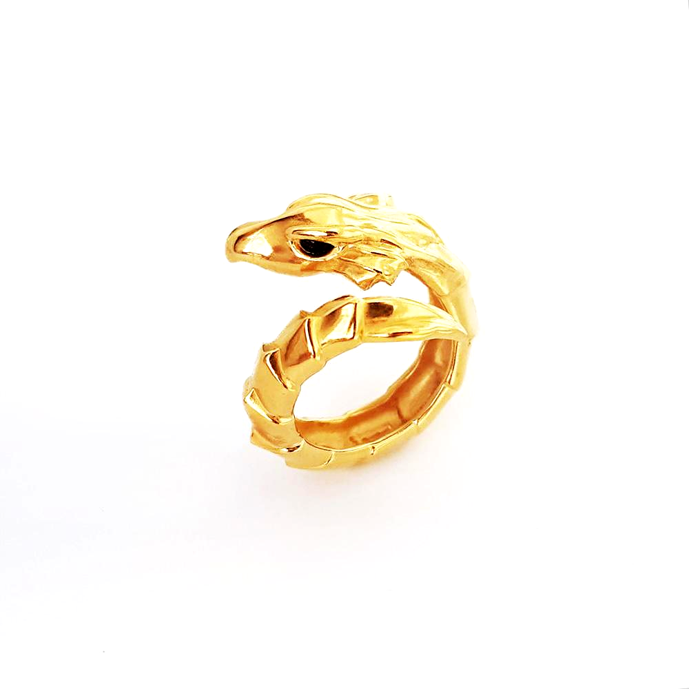 Gold Plated Dragon Ring