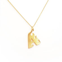 Load image into Gallery viewer, Flame Letter Necklace