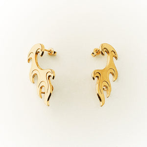 Gold Plated Flame Earring