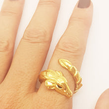 Load image into Gallery viewer, Gold Plated Dragon Ring