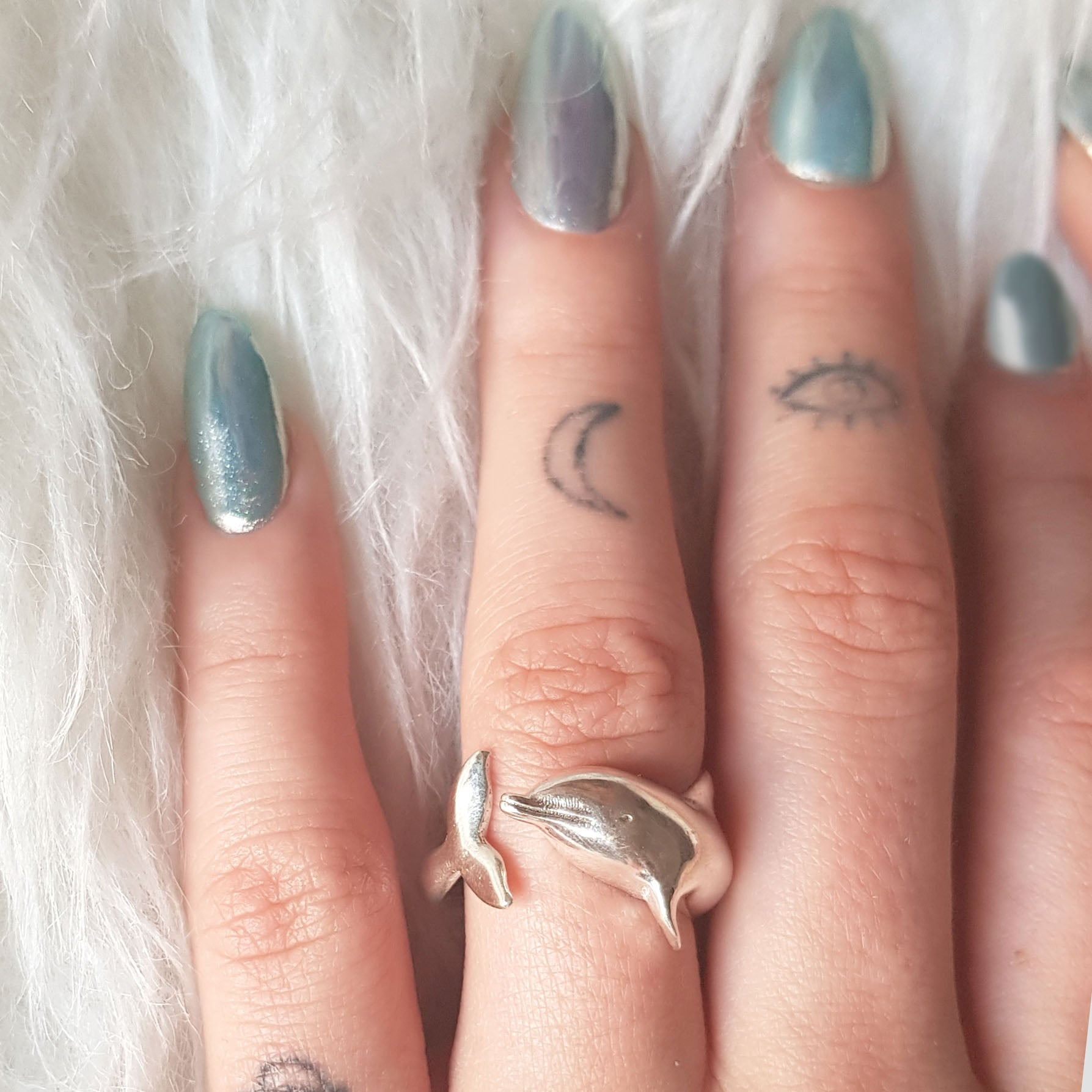 Seapunk Dolphin Silver  Ring