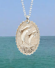 Load image into Gallery viewer, Dolphins & Roses Devotional Necklace