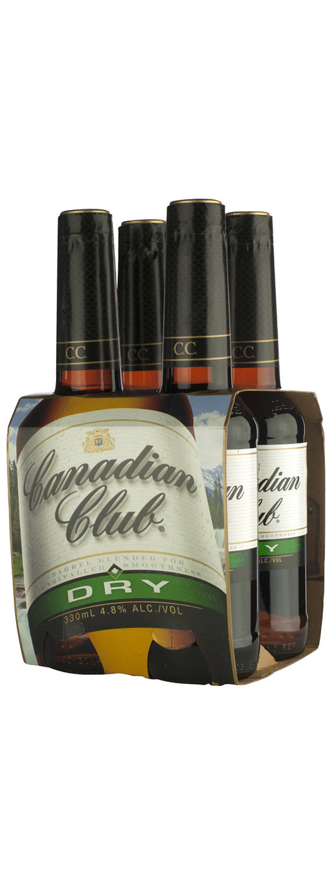 CANADIAN CLUB & DRY 330ML X 4
