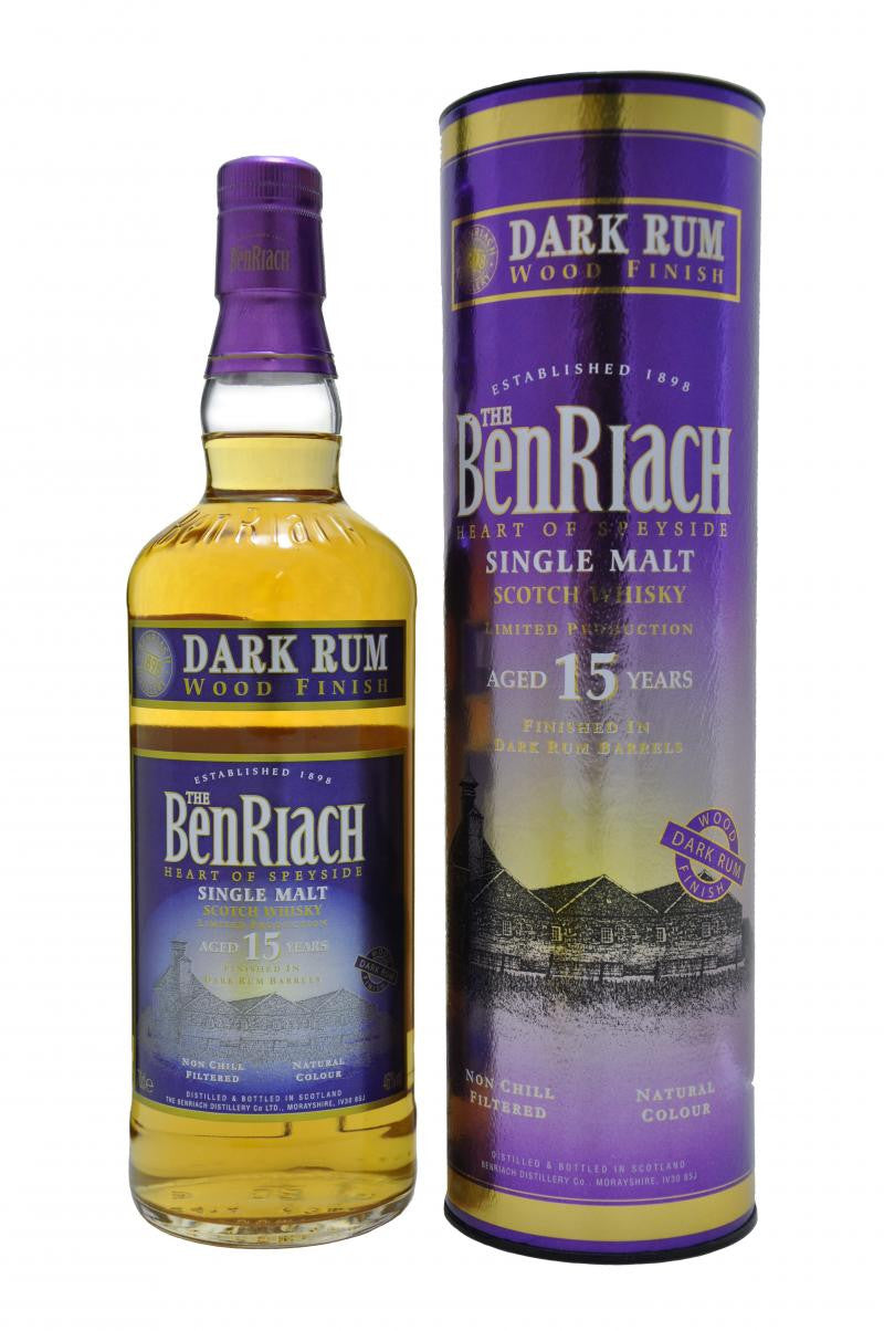 THE BENRIACH 15 YEAR OLD DARK RUM SPEYSIDE SINGLE MALT