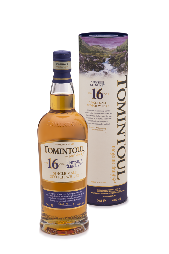 tomintoul 16yr old speyside glenlivet single malt scotch whisky