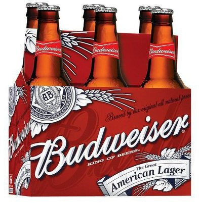 BUDWEISER BEER 355ML X 6