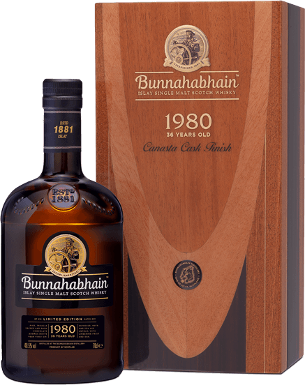 Bunnahabhain 1980 Canasta Cask Finish 36 yr old Islay Single Malt 49.5%