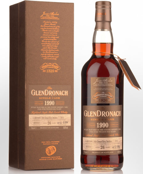 The Glendronach Batch 15 1990 cask #2973 26 years old PX Sherry Puncheon 50.8% vol