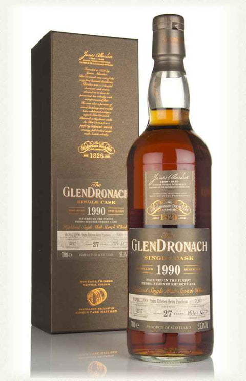 GLENDRONACH SINGLE CASK BATCH 16 1990 / Cask #7003 / 27 years / PX Sherry Puncheon / 55.3