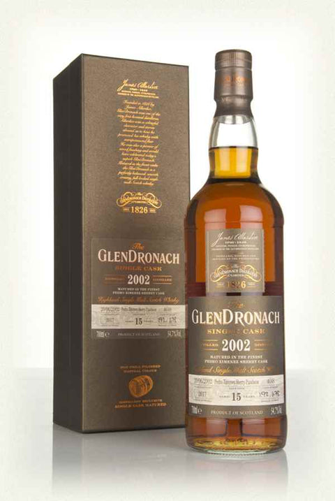 GLENDRONACH SINGLE CASK BATCH 16 2002 / Cask #4648 / 15 years / PX Sherry Puncheon