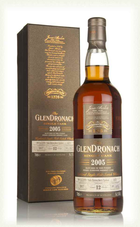 GLENDRONACH SINGLE CASK BATCH 16 2005 / Cask #1451 / 12 years / PX sherry puncheon / 56.1%