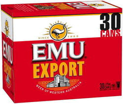 EMU EXPORT 375ML CANS X 30