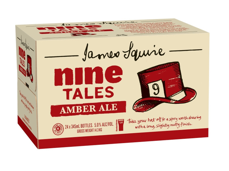 JAMES SQUIRE NINE TALES AMBER ALE 345ML X 24