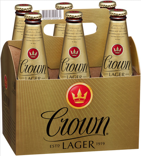 CROWN LAGER 375ML X 6