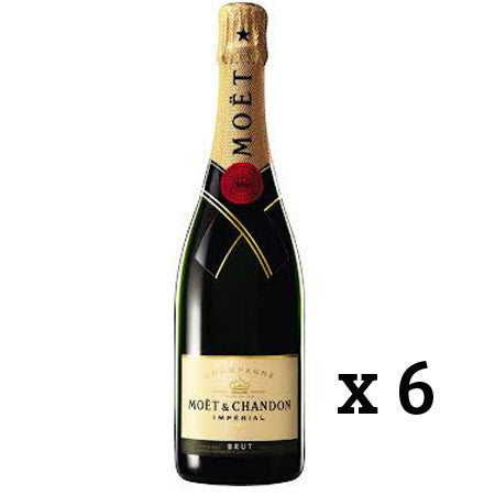 MOET & CHANDON BRUT CHAMPAGNE X 6 BOTTLES