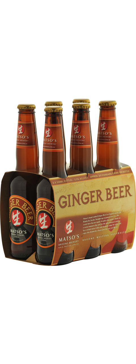 MATSOS GINGER BEER 330ML X 6