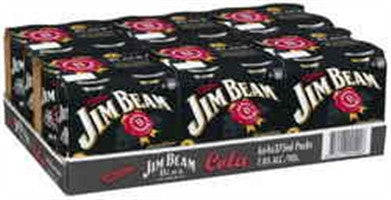JIM BEAM BLACK & COLA X 24