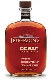JEFFERSON'S OCEAN AGED AT SEA KENTUCKY STRAIGHT BOURBON WHISKEY VERY SMALL BATCH 45% 750ML