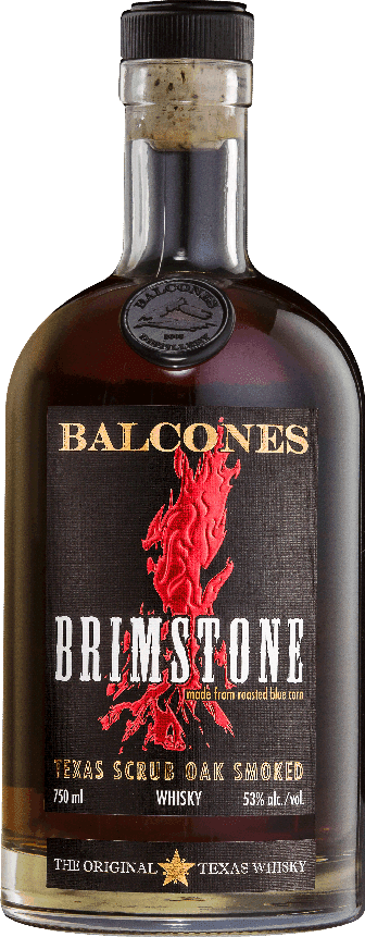 Balcones Brimstone Texas Scrub Oak Smoked Blue Corn 53% ABV