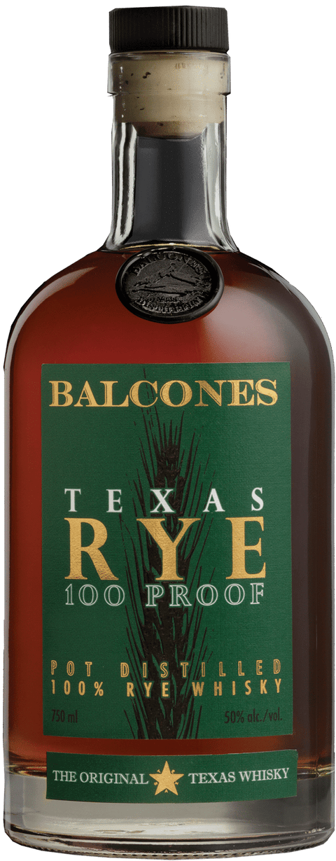 Balcones Texas Rye 100 Proof (50%ABV)
