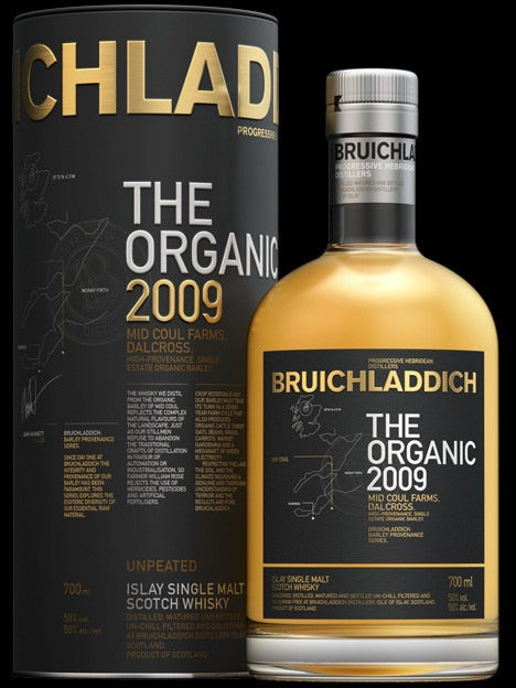 BRUICHLADDICH THE ORGANIC 2009 SCOTTISH BARLEY 50% 700ML