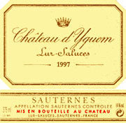 CHATEAU DYQUEM 1997 750ML SAUTERNES 1ER GRAND CRU SUPERIEUR