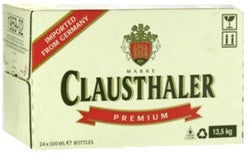 CLAUSTHALER PREMIUM LOW ALCOHOL BEER 0.5% 330ML X 24