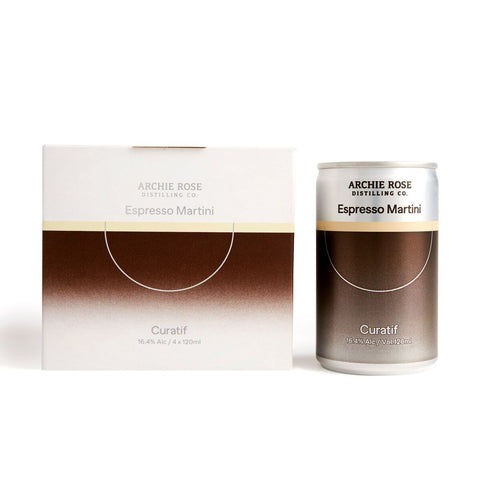 CURATIF ARCHIE ROSE ESPRESSO MARTINI CAN 16.4% 120ML X 4