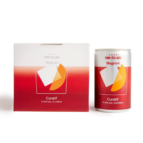 CURATIF FOUR PILLARS NEGRONI CAN 17.35% 140ML X 4