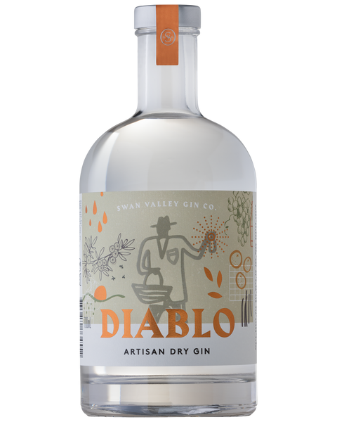SWAN VALLEY GIN CO DIABLO ARTISAN GIN 700ML