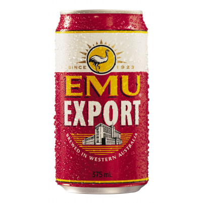 EMU EXPORT 375ML CANS