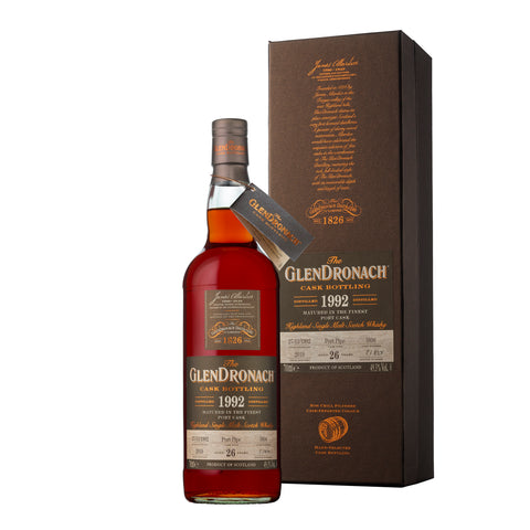 GLENDRONACH BATCH 17 1992 CASK #5896 26 YR OLD PORT PIPE 49.3%