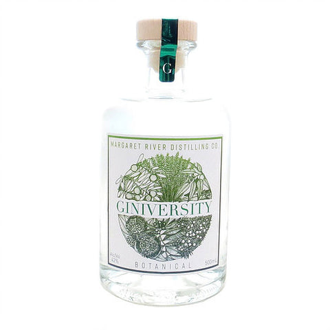 MARGARET RIVER DISTILLING CO GINIVERSITY BOTANICAL GIN 500ML