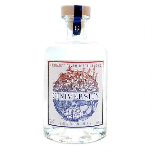MARGARET RIVER DISTILLING CO GINIVERSITY LONDON DRY GIN 500ML
