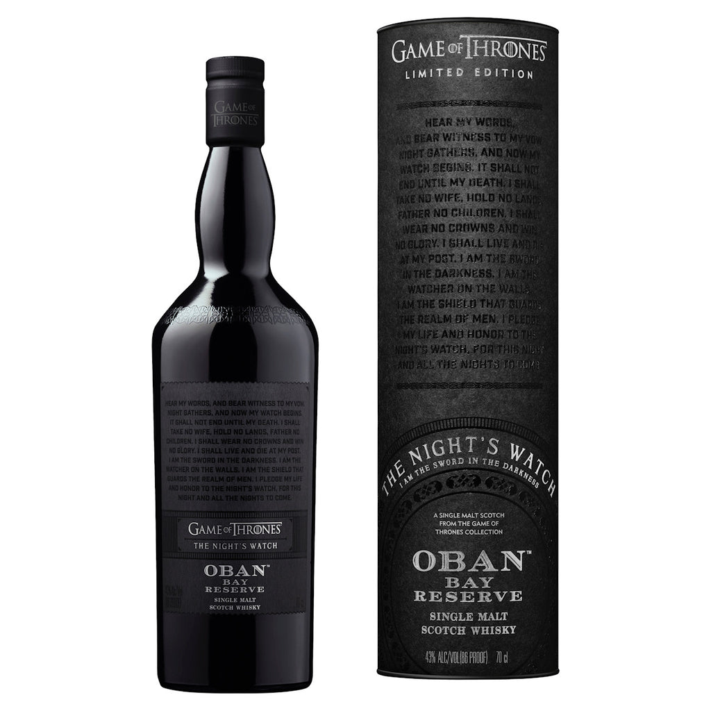 Game of Thrones The Night's Watch Oban Bay Reserve 43%