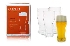 GO VINO GO ANYWHERE BEER GLASS X 4