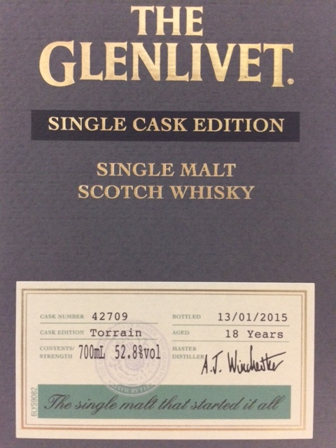 GLENLIVET THE TORRAIN SINGLE CASK SPEYSIDE SINGLE MALT 52.8%