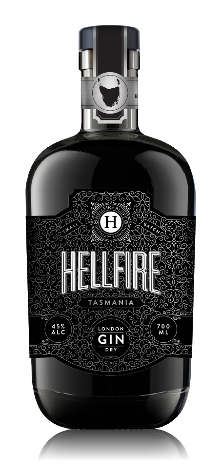 HELLFIRE BLUFF TASMANIAN LONDON DRY GIN 45% 700ML
