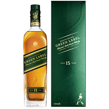 JOHNNIE WALKER GREEN LABEL 15 YO BLENDED SCOTCH WHISKY