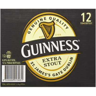 GUINNESS 750ML CTN