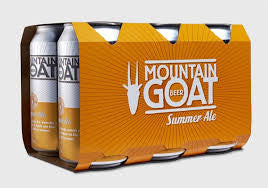 MOUNTAIN GOAT SUMMER ALE CANS 375ML X 6