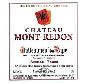 MONT REDON CHATEAUNEUF DU PAPE ROUGE 2000