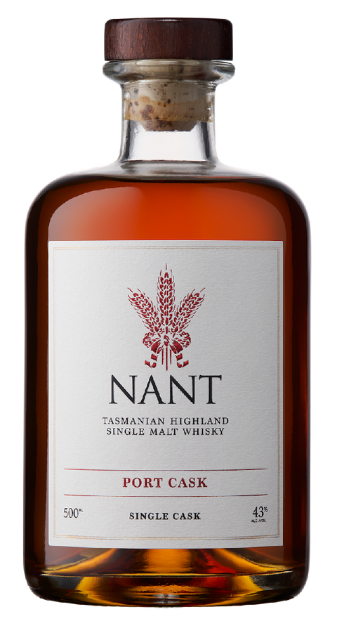 NANT PORT WOOD SINGLE CASK 43% TASMANIAN SINGLE MALT 500ML