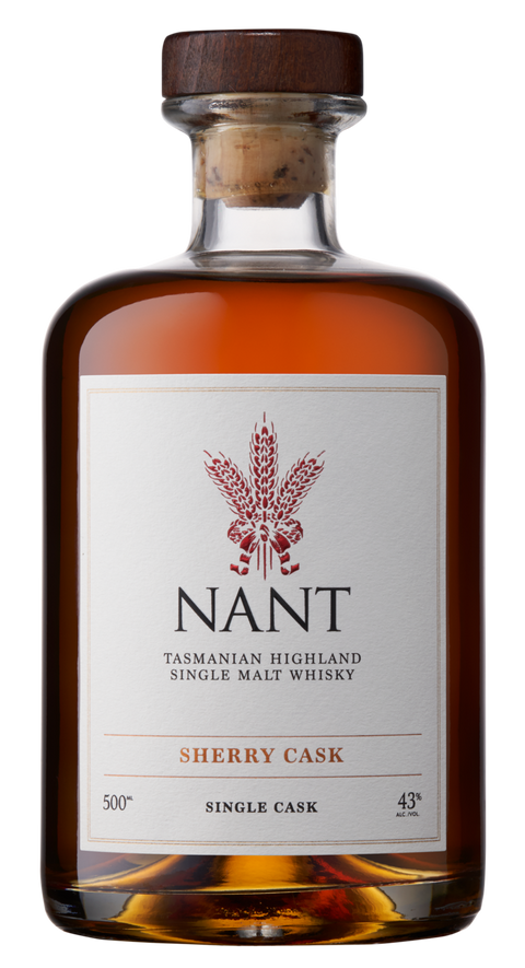 NANT SHERRY WOOD SINGLE CASK 43% TASMANIAN SINGLE MALT 500ML