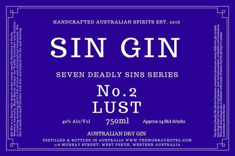 "SIN GIN No.2 ""LUST"" 750ML"