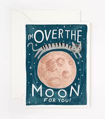 I'M OVER THE MOON FOR YOU - GIFT CARD FROM TELEGRAM CO.