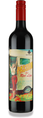 SOME YOUNG PUNKS PASSION HAS RED LIPS SHIRAZ CABERNET